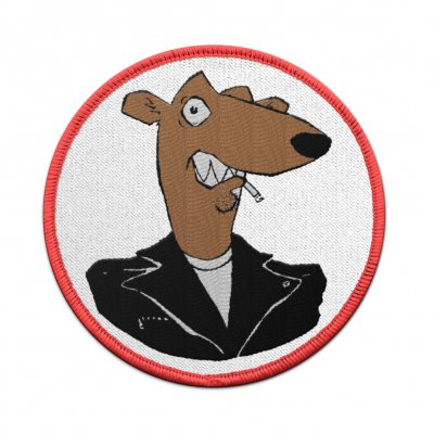 screeching-weasel - Weasel Head Patch (White)