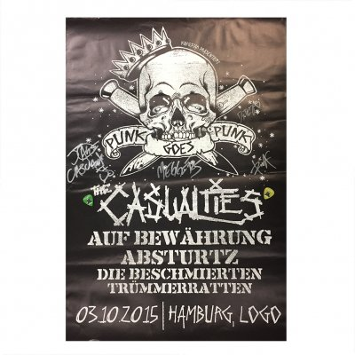 the-casualties - Signed Punk Goes Punk Germany Concert Poster