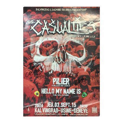 the-casualties - Signed Live Show Poster 9/3/2015