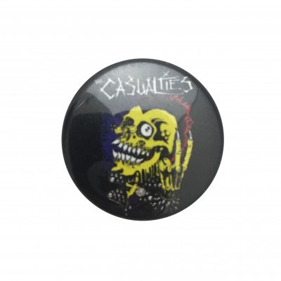 "the-casualties - Mohawk Skull 1"" Button"