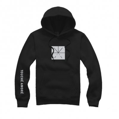 touche-amore - Gray Asterisk Logo Pullover Hoodie (Black)