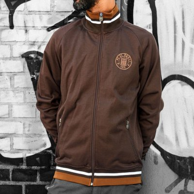 FC St Pauli - Embroidered Training Jacket (Brown)