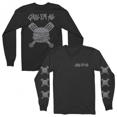 grill-em-all - Spatula Long Sleeve (Black)