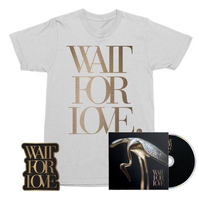 pianos-become-the-teeth - Wait For Love CD + Tee (White) + Enamel Pin Bundle