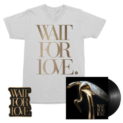 pianos-become-the-teeth - Wait For Love LP (Black) + Tee (White) + Enamel Pin Bundle