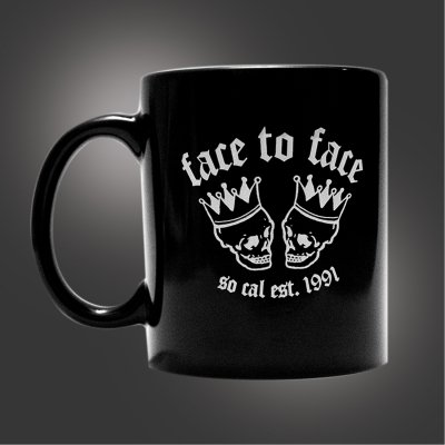 face-to-face - Skull Crown Coffee Mug (Black)