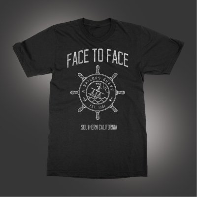 face-to-face - Sailor's Grave T-Shirt (Black)