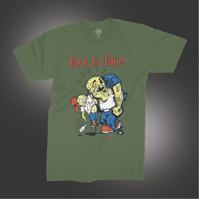 face-to-face - Dad & Kid T-Shirt (Army Green)