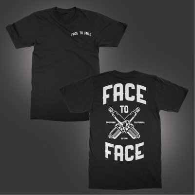 face-to-face - Spark Plug T-Shirt (Black)