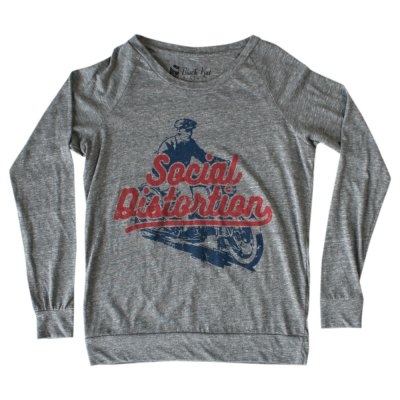 social-distortion - Vintage Motorcycle Crew Neck (Heather Grey)