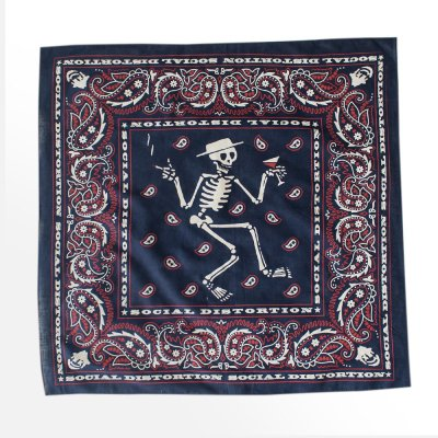 social-distortion - Skelly Paisley Bandana (Navy)