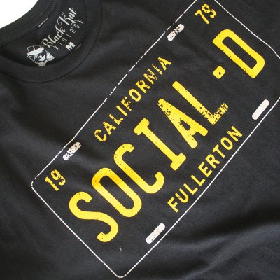 California License Plate T Shirt Black Social