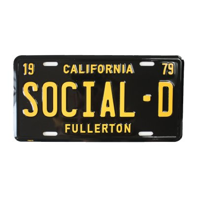 social-distortion - California License Plate