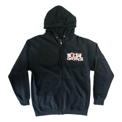 Gangster Zip Up Hoodie (Black)