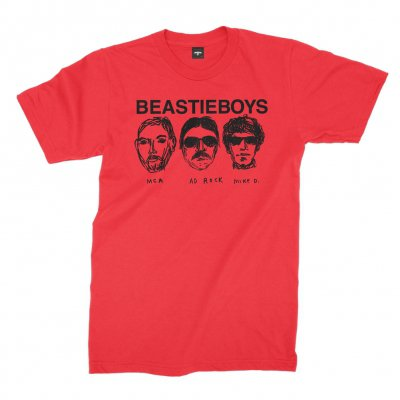 beastie-boys - Faces Tee (Red)