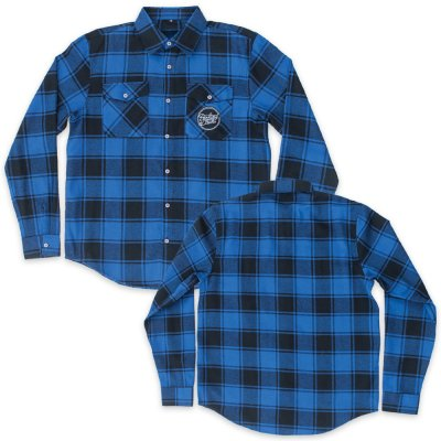parkway-drive - Script Logo Patch Flannel (Blue/Black)