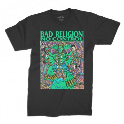 bad-religion - No Control Kozik Tee (Black)