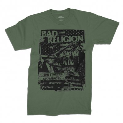 bad-religion - The Streets of America Tee (Army Green)