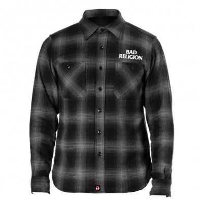 bad-religion - Embroidered Logo Flannel (Black/Gray)