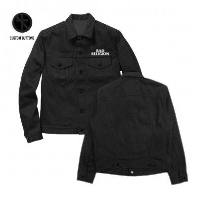 bad-religion - Custom Embroidered Logo Denim Jacket (Black)