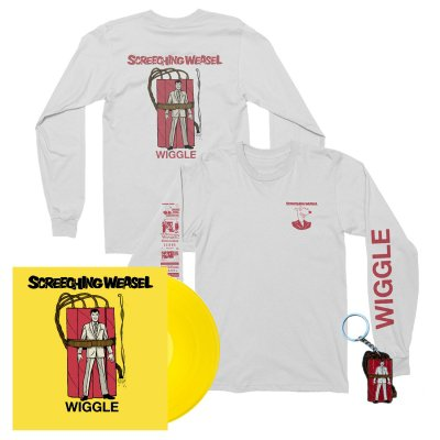screeching-weasel - Wiggle LP (Yellow) + Long Sleeve Tee (White) + Keychain Bundle