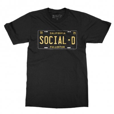 social-distortion - California License Plate T-Shirt (Black)