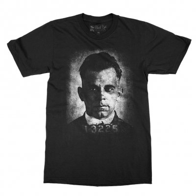 black-kat-kustoms - Dillinger Mugshot T-Shirt (Black)