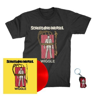 screeching-weasel - Wiggle LP (Red) + Wiggle T-Shirt (Black) + Key Chain Bundle