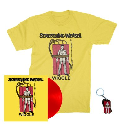 screeching-weasel - Wiggle LP (Red) + Wiggle T-Shirt (Yellow) + Key Chain Bundle