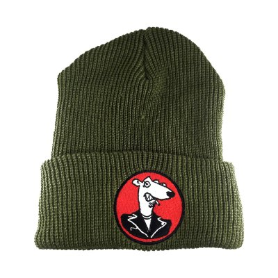 screeching-weasel - Embroidered Weasel Beanie (Green)