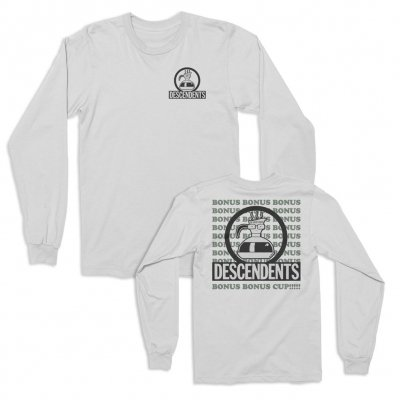 descendents - Bonus Bonus Cup Long Sleeve Tee (White)