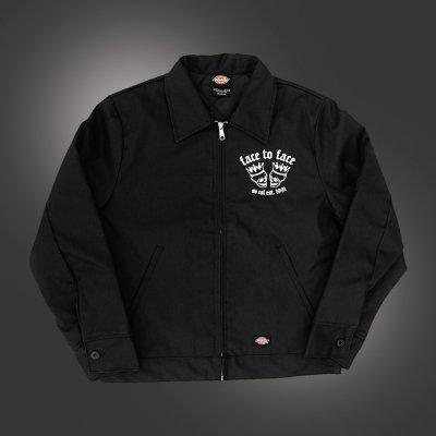 Skull Crown Lined Work Jacket (Black)