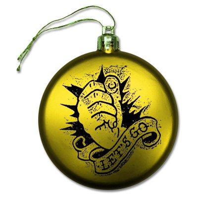 rancid - Let's Go Ornament (Yellow)
