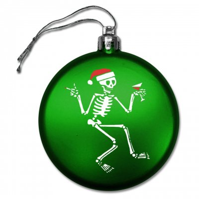 social-distortion - Skelly Round Ornament (Green)