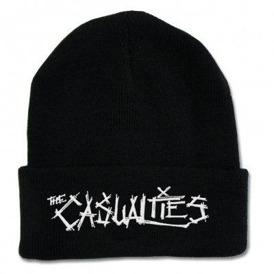 the-casualties - Embroidered Logo Beanie (Black)