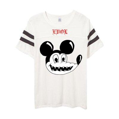 frank-iero - Evol Steve Jersey T-Shirt (White)