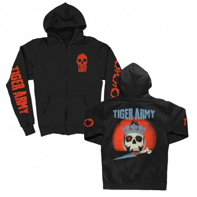 tiger-army - Crown Skull Zip-Up Sweatshirt (Black)