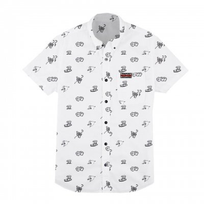 social-distortion - Icons Button Down T-Shirt (White)