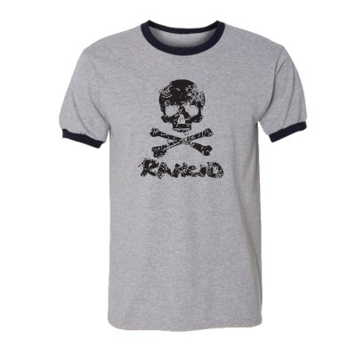 rancid - D Skull Ringer (Heather Grey/Black)