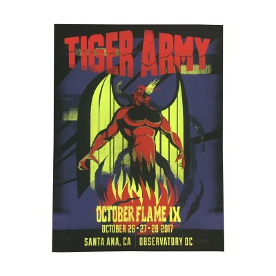 tiger-army - Octoberflame Screen Print