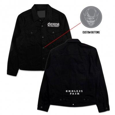 kreator - Endless Pain Custom Denim Jacket (Black)