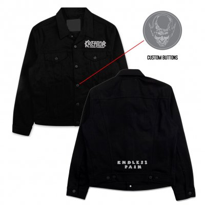 kreator - Endless Pain Custom Denim Jacket (Black)
