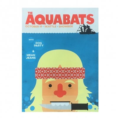 the-aquabats - Jaws Tour Poster Seattle 10/19