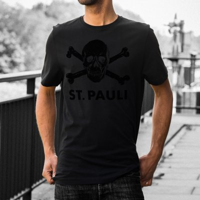 fc-st-pauli - Skull Tee Black On Black - US Exclusive