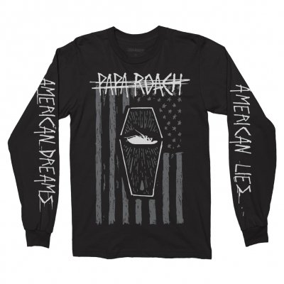 papa-roach - American Coffin Long Sleeve Tee (Black)