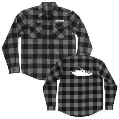 papa-roach - Ltd. Roach Logo Flannel (Grey/Black)
