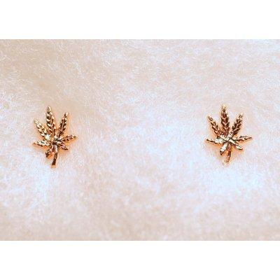 ziggy-marley - Cannabis Leaf Earrings - Rose Gold