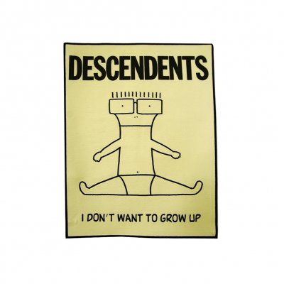 descendents - I Don't Want To Grow Up Back Patch (Yellow)