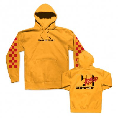 vans-warped-tour - Checkered Pullover Hoodie (Yellow)