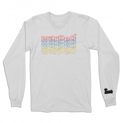 vans-warped-tour - Fading Long Sleeve Tee (White)